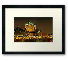 Night view of Le Chateau Frontenac, Quebec City Framed Print