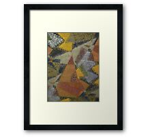 Frosted Geometricolour Framed Print