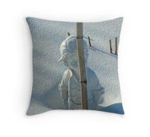 Snow Is Deep Throw Pillow