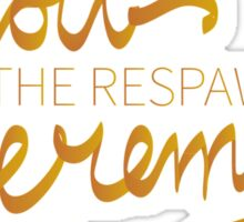 Troll The Respawn Jeremy (Unbreakable Kimmy Schmidt) Sticker