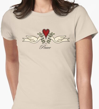 Peace Doves Womens Fitted T-Shirt