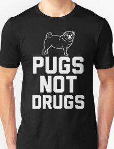 Pugs Not Drugs [White] T-Shirt