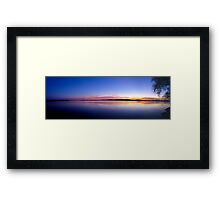 Sunset, Lake Champlain - Panorama Framed Print