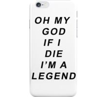 Legend [Black] iPhone Case/Skin