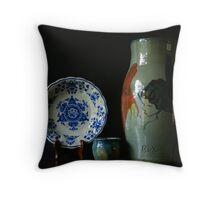 Delft Porcelain - Flemish & Spanish Pottery Throw Pillow