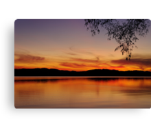 Sunset, Lake Champlain Canvas Print