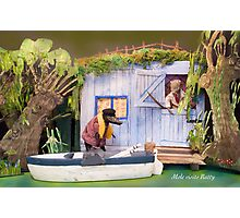Wind in the Willows - Mole visits Ratty Photographic Print