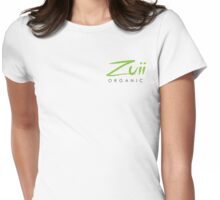 Logo Stacked White Womens Fitted T-Shirt
