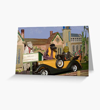 Wind in the Willows - Toad's New Car Greeting Card