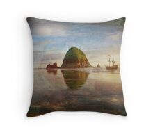 The Pirates of Cannon Beach Throw Pillow