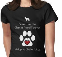 Adopt a Shelter Dog Womens Fitted T-Shirt