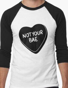 Not Your Bae [Black] Men's Baseball ¾ T-Shirt