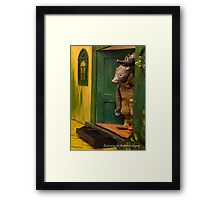 Wind in the Willows - Listening to the carol singers Framed Print