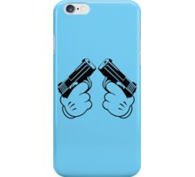 Cartoon Hand Guns Funny Geek Nerd iPhone Case/Skin