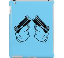 Cartoon Hand Guns Funny Geek Nerd iPad Case/Skin