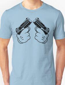 Cartoon Hand Guns Funny Geek Nerd T-Shirt