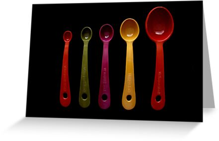 Five Measuring Spoons by Caroline Fournier