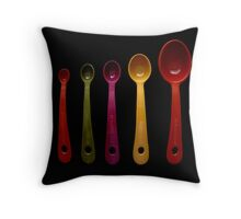 Five Measuring Spoons Throw Pillow