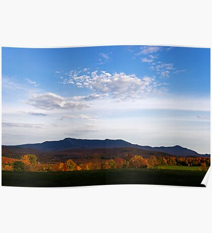 Mount Mansfield Silhouette Poster