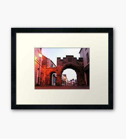 The North Gate - Carrickfergus Framed Print
