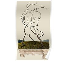 Embrace in the Trees - Passionate Lovers Embrace Poster