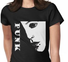 Punk Tee Black Womens Fitted T-Shirt