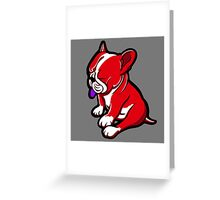 Bull Terrier Red And White  Greeting Card