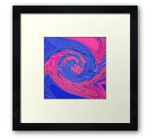 Eye See Pink and Blue Framed Print