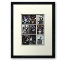 Hearthstone Characters Posterized Framed Print