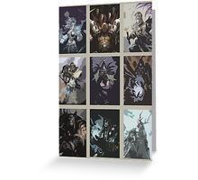 Hearthstone Characters Posterized Greeting Card