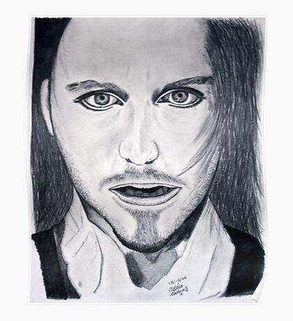 Tim Minchin Pencil Drawing Poster