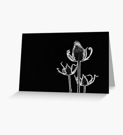 Abstract Flower in Black and White Greeting Card