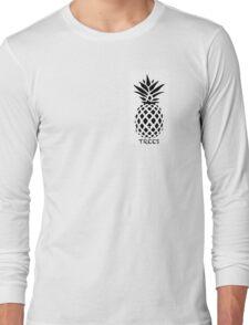 Reddit /R/Trees Pineapple black & white Long Sleeve T-Shirt