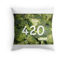 420 Broccoli Throw Pillow