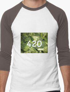 420 Broccoli Men's Baseball ¾ T-Shirt