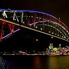 Vivid Sydney Harbour Bridge - Vivid Festival by Bryan Freeman