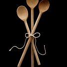 Three Wooden Spoons by Caroline Fournier