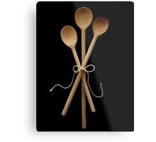 Three Wooden Spoons Metal Print