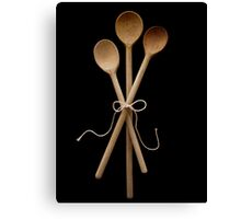 Three Wooden Spoons Canvas Print