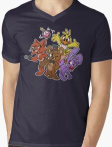 Freddy and Friends Mens V-Neck T-Shirt