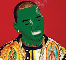Chris Brown Slime face smoking by Deannatheartist