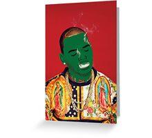 Chris Brown Slime face smoking Greeting Card