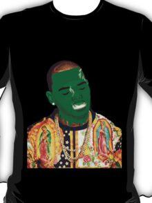 Chris Brown Slime face smoking T-Shirt