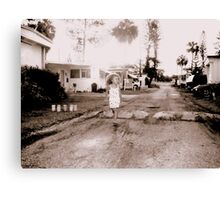 A child (Trailer Park America Series )  Canvas Print
