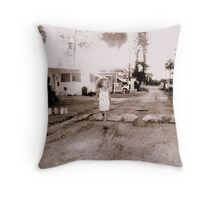A child (Trailer Park America Series )  Throw Pillow