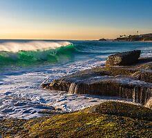 Aliso Beach Late Afternoon by photosbyflood