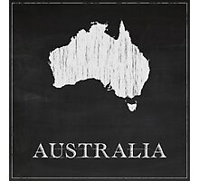 Australia Map Chalk Drawing Photographic Print