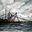 shrimp boat painting 2 by derekmccrea