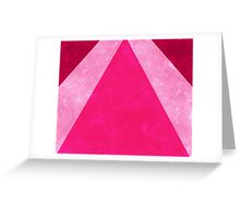 Pink Rays Greeting Card