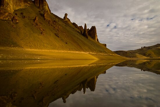 Lake Owyhee, Leslie Gulch, Reflections. Malheur County, Oregon by Albert Dickson
